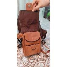 ULTIMO กระเป๋าสพายข้างหนังแท้อเนกประสงค์พรีเมียมรับประกัน10ปีสีนำ้ตาล