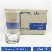 Ocean Glass [กล่อง 6ใบ/ B01210] แก้วน้ำ 280มล. Ocean Fin Line Hi Ball Glass
