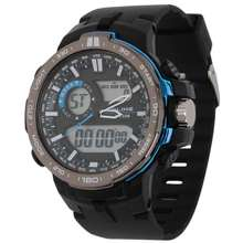 Alike *** HOT SALES *** นาฬิกาข้อมือ SPORT DUAL TIME by AK15115 ดีไซน์ใหม่หน้าจอ 2 ระบบ QUARTZ + DIGITAL สายยางซิลิโคน สวยเฉียบ ฟังค์ชั่นครบทุกการใช้งาน By ONTIME24