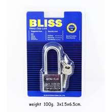Bliss กุญแจ 30mm. คอยาว กุญแจล็อค กุญแจแผงขาว (แพ็คคู่สุดคุ้ม 80บาท)