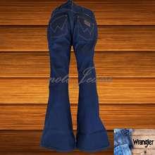 Wrangler ทรงขาม้าผ้าด้าน สี Jeans สินค้าขายดี (ถ่ายจากของจริง) 1 (เอว:28)