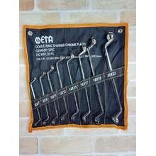 META ประแจแหวน2ข้าง 8ตัว/ชุด ( 8-22 มม.)
