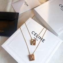 Céline พร้อมส่ง Celine Signature Alphabet Necklace สร้อยคอ Celine A-P