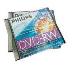 Philips DVD-RW 1-4X 4.7GB.(Pack1) with jewel Case 2แผ่น