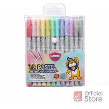 Master Art ปากกาสีเมจิก พาสเทล 12 สี