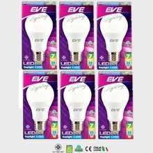 Eve lighting EVE หลอด LED BULB 7 วัตต์ ขั่ว E27 แสงเดย์ไลท์ ( 6 หลอด )