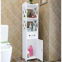 Asia ชั้นวางของในห้องน้ำ ตู้เก็บของในห้องน้ำ สามารถโดนน้ำได้ สูง 120 ซม. สีขาว