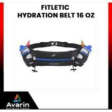 Fitletic Hydration Belt ขนาด 16 OZ กระเป๋าคาดเอวใส่ขวดน้ำสำหรับวิ่ง (Black L/XL)