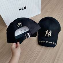 MLB CAP หมวกแก๊ป NY สินค้าของแท้ 100% สีดำ ฟรีไซส์ หลังปรับขนาดได้ ใส่ได้ทั้ง หญิง ชาย นำเข้าจากเกาหลี