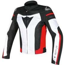 Dainese รถจักรยานยนต์บุรุษ Windproof แจ็คเก็ตชุดแข่ง Moto เสื้อแจ็คเก็ต GP ขี่เสื้อผ้าเกราะเสื้อเสื้อผ้าขับขี่ความปลอดภัยกลางแจ้งเกียร์สำหรับขี่ (White Red, S)