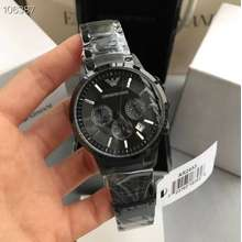 Armani Emporio Classic Chronograph Stainless Steel - Black Mens watch AR2453