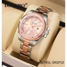 LONGBO นาฬิกา ของแท้ 100% รุ่น 80303 สายสแตนเลส นาฬิกาผู้หญิง นาฬิกาแฟชั่น นาฬิกาแบรนด์แท้ (สินค้าพร้อมส่งด่วนจากไทย) (สแตนเลส 80785L-SRGP10)