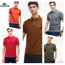 Lacoste MENS SLIM FIT POLO SHIRT (BROWN, Int:M)