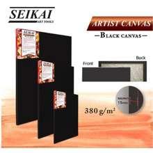 Seikai เฟรมผ้าใบสีดำ เฟรมวาดรูปสีดำ เฟรมดำ เฟรมผ้าดำ ขนาด 80x100 cm black canvas ยี่ห้อ เซไก