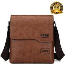 Jeep 【โปรโมชั่นสินค้าใหม่】กระเป๋าสะพายข้างสะพายไหล่ กระเป๋าหนังลำลอง สำหรับผู้ชาย กระเป๋าสะพายข้าง กระเป๋าสะพาย เหมาะสำหรับผู้ชาย กระเป๋าสะพายไหล่ กระเป๋าเมสเซนเจอร์ กระเป๋าสะพายผช
