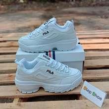 FILA Fila Disruptor II Premium Sneaker (ฟิล่า ส้นตึก) ยอดฮิตสุดๆ โปรโมชั่นลดราคาพิเศษ นำเข้าตรงจากเกาหลี พร้อมรับประกันทุกคู่ และของแถมอีกเพียบ!!