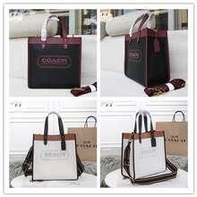 Coach F.A (ของแท้ 100%) Coach C0774 Field30 Tote Bag Ladies Crossbody Bag Shopping Bag Handbag Handbag Vintage Badge Leather