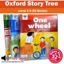 Oxford University Press (In Stock) สินค้าพร้อมส่ง Oxford story tree Level 1-3 หนังสือฝึกอ่านภาษาอังกฤษ 52 เล่ม ชุดใหญ่ + Free audio (มีไฟล์เสียงอ่าน)