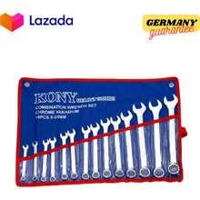 KONY แหวนข้าง 14 PCS 8-24 จำนวน14ตัว ประแจรวม ชุดประแจแหวนข้างปากตาย แข็งแรง ทนทาน แหวนข้างปากตาย