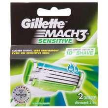 Gillette ใบมีดโกนหนวด ยิลเลตต์ Mach 3 sensitive จำนวน 2 ใบมีดโกน โกนหนวดเครา โกนหนวดชาย โกนหนวดใบมีด ที่โกนหนวด ที่โกนขน มีดโกน ใบมีดโกนยิลเลต