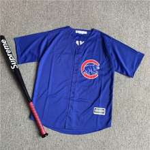 MAJESTIC พร้อมส่ง เสื้อ เบสบอล งานปัก อย่างดี Chicago Cubs
