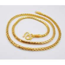 Thai Jewelry(ไทยจิวเวลรี่) Thai Jewelry สร้อยคอ ทองคำ งานทองชุบไมครอน ชุบด้วยเศษทองคำแท้ 96.5 % หนัก 3 บาท ความยาว 24 นิ้ว เครื่องประดับ ทองชุบ