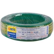 BCC สายไฟ THW 60227IEC01 1x4 ตร.มม. สีเขียวเหลือง ไทย