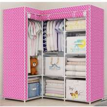 Hommy ตู้เสื้อผ้า DIY 3 บล๊อค รุ่น L สีชมพู ไทย